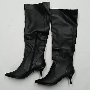 mark. By Avon Tall Order Boots SZ 10 Black Leather